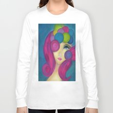 Blue Face Girl w/o Quote Long Sleeve T-shirt