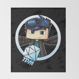 DanTDM Mincraft The Diamond Minecart Throw Blanket