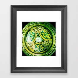 Golden Plate Framed Art Print