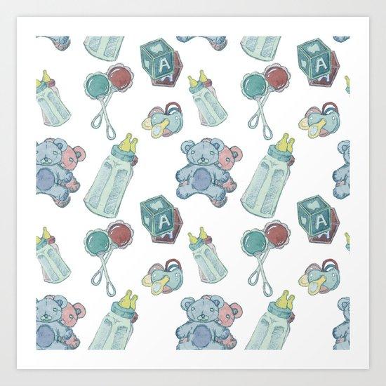 Baby Pattern Art Print