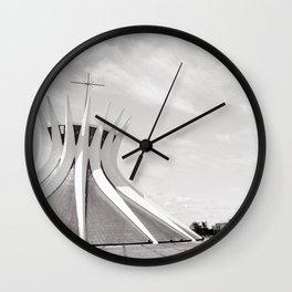 Brasilia's Cathedral | Niemeyer Architect Wall Clock