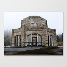 Visitor Center at Multnomah Falls Canvas Print