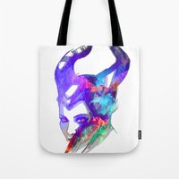 maleficent Tote Bags featuring Maleficent by Ryky