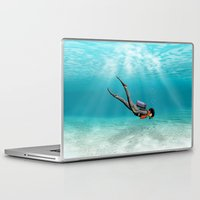 diver Laptop & iPad Skins featuring S.C.U.B.A. Diver by MacDonald Creative Studios