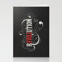 revolution Stationery Cards featuring Revolution by Mobe13