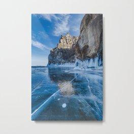 Blue Ice of the Lake Baikal Metal Print