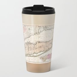1842 Mather Map of Long Island, New York Travel Mug