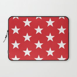 Superstars White on Red Large Laptop Sleeve