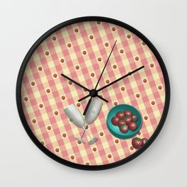 You Bring the Champagne Wall Clock