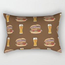 Burgers and Beer Rectangular Pillow