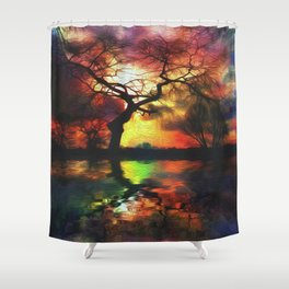 Stillwater Sunrise Shower Curtain