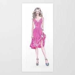 Pink Dress! Art Print