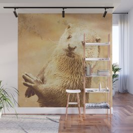 Vintage Animals - Otter Wall Mural