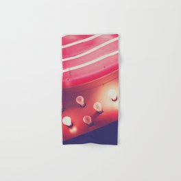 Pink Neon Glow Hand & Bath Towel