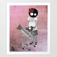 shopping Art Prints featuring shopping by Seamless