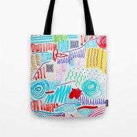 doodle Tote Bags featuring DOODLE by austeja saffron