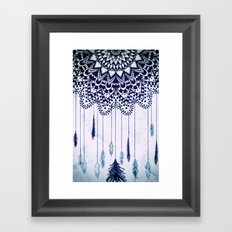 BOHO DREAMS MANDALA Framed Art Print