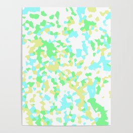 Blue, Yellow, and Green Mosaic Poster