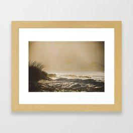 Morning sand Framed Art Print