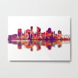 Grand Rapids Michigan Skyline Metal Print