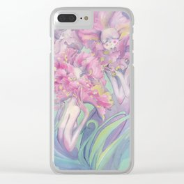 Flower Heads Clear iPhone Case