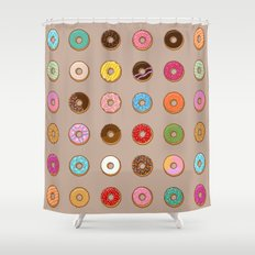 Colorful Doughnuts Shower Curtain