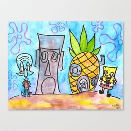 Who Lives in a Pineapple Under the Sea?! Canvas Print