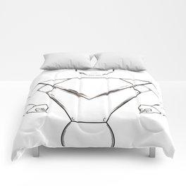 robot pht illustrator Comforters