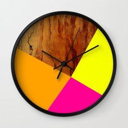Wooden Colour Blocking Wall Clock
