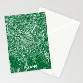Milan, Italy street map Stationery Cards