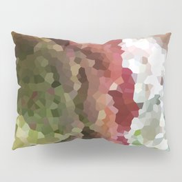 Crystallized Red Succulent Pillow Sham