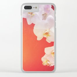 Orange Orchid Clear iPhone Case