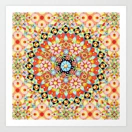 Gypsy Caravan Mandala Art Print