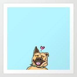 Durp puppy love Art Print