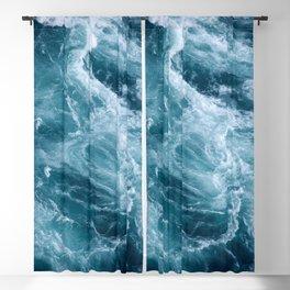 Ocean Storm | Classic Blue Blackout Curtain