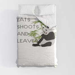 Eats, Shoots and Leaves Comforters