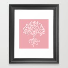 Tree of Life Pink Framed Art Print