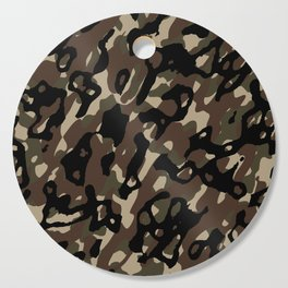 Camouflage Abstract Cutting Board