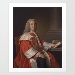Allan Ramsay - Alexander Boswell, Lord Auchinleck (1755) Art Print