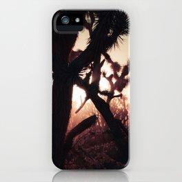Joshua Trees at Sunset iPhone Case