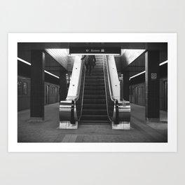Step Down Art Print