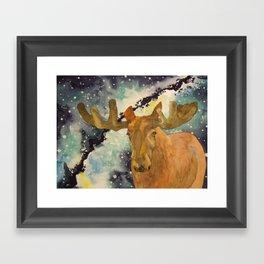 Full Moose Framed Art Print