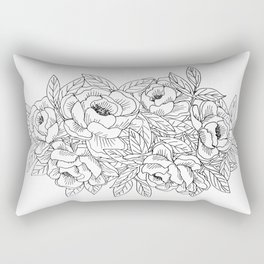 Rose Arrangement Rectangular Pillow