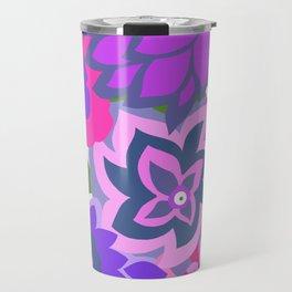 CAMBRIA, ART DECO FLORALS: OLVERA MORADO Travel Mug