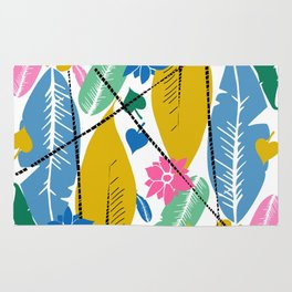 Feathers and leafs Rug