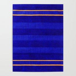 N241 - Navy Deep Calm Blue Velvet Texture Moroccan Style  Poster