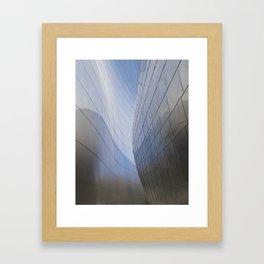 METALLIC WAVES Framed Art Print