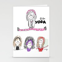 gym Stationery Cards featuring @Gym by Indraart
