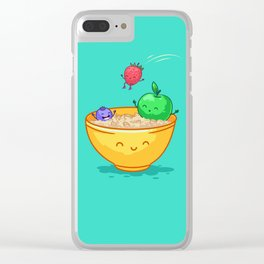 Fruit and oatmeal (Best friends. Character set.) Clear iPhone Case