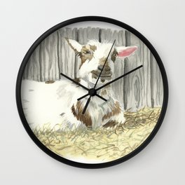 Goat in the Sunshine - Watercolor Wall Clock